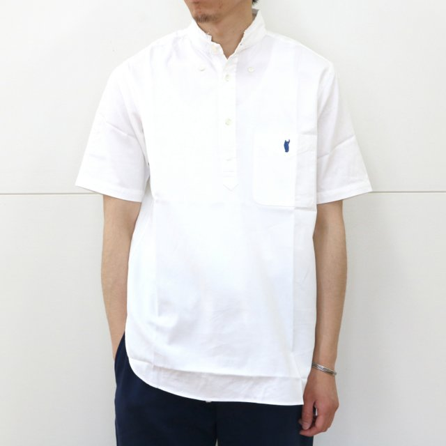 YOUNG & OLSEN(ヤングアンドオルセン)/ BROKEN BD OX PULLOVER SS -WHITE-