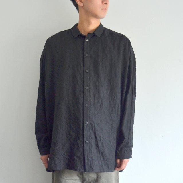 too good(トゥーグッド) / THE DRAUGHTSMAN SHIRT LONG SOFT COTTON -FLINT-
