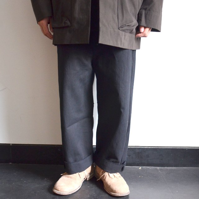 too good(トゥーグッド) / THE SCULPTOR TROUSER DYED CALICO HW -FLINT-