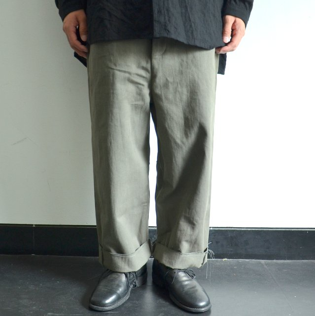 too good(トゥーグッド) / THE SCULPTOR TROUSER DYED CALICO HW -FOG-