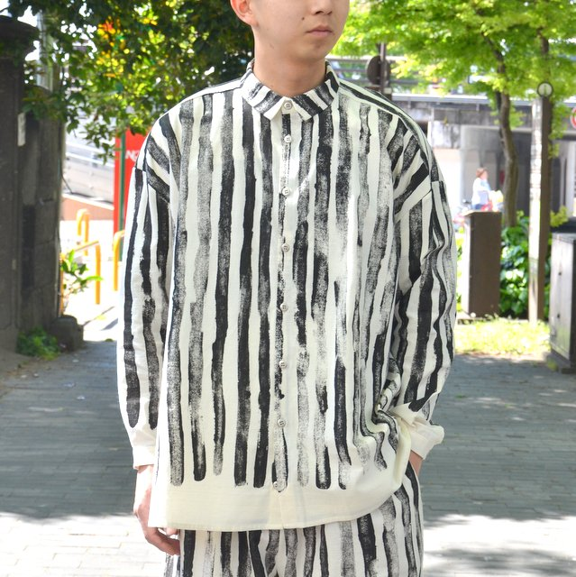 too good(トゥーグッド) / THE DRAUGHTSMAN SHIRT TOOTHPASTE STRIPE -COAL-