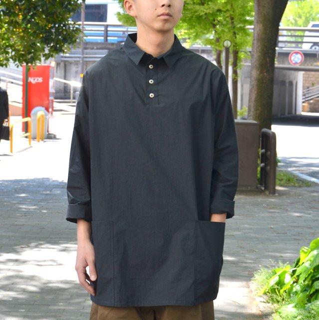 too good(トゥーグッド) / THE APPLEPICER TOP COTTON PERCALE SHIRT -COAL-
