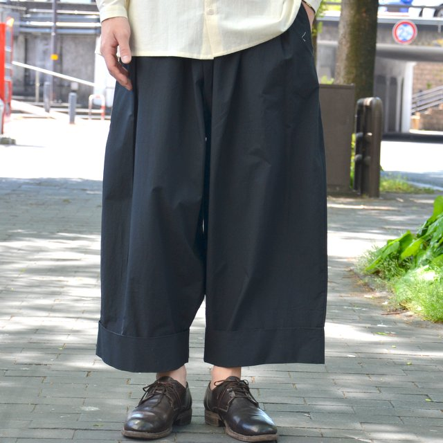 too good(トゥーグッド) / THE BAKER TROUSER COTTON PERCALE -COAL-