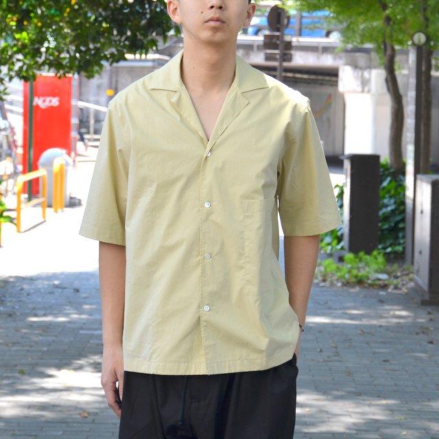 STUDIO NICHOLSON(スタジオニコルソン)/ OPEN COLLAR SHORT SLV SHIRT -KHAKI-