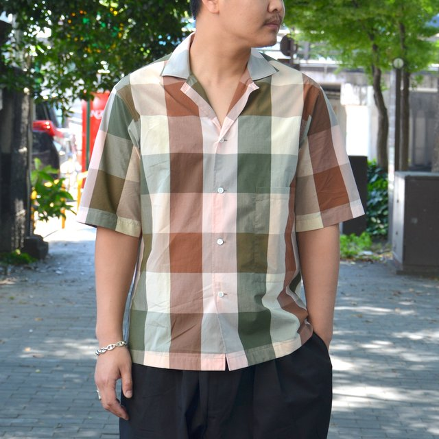 STUDIO NICHOLSON(スタジオニコルソン)/ SHORT SLV MADRAS CHECK SHIRT -MULTI-