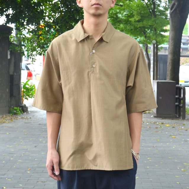 tim.(ティム)/ WINDOW PANE DOLMA POLO -(63)BEIGE-