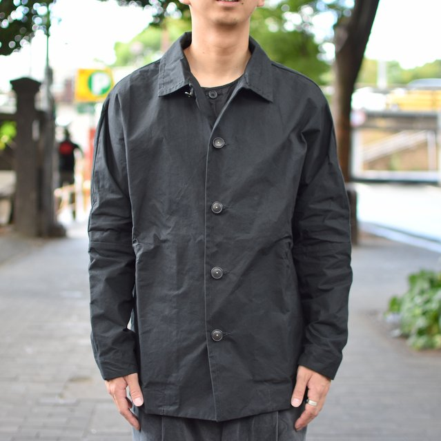 CASEY CASEY(ケーシーケーシー)/WAX VESTE HIGA JACKET-BLACK-