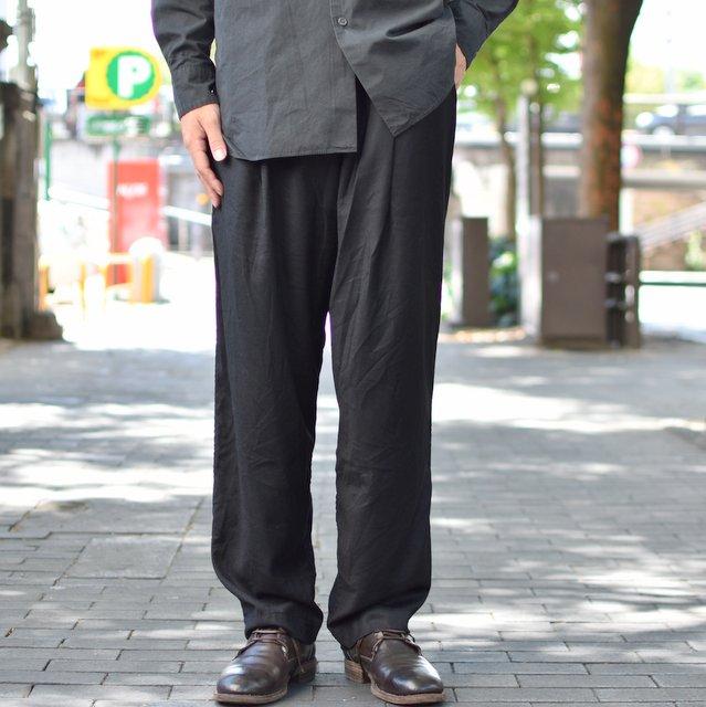 CASEY CASEY(ケーシーケーシー)/ WOOL PANTALON JOG BASICS LONG PANT -BLACK-