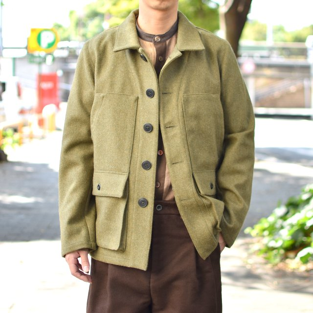 FRANK LEDER(フランクリーダー)/ MILITARY GREEN LODEN WOOL-(47)GREEN-