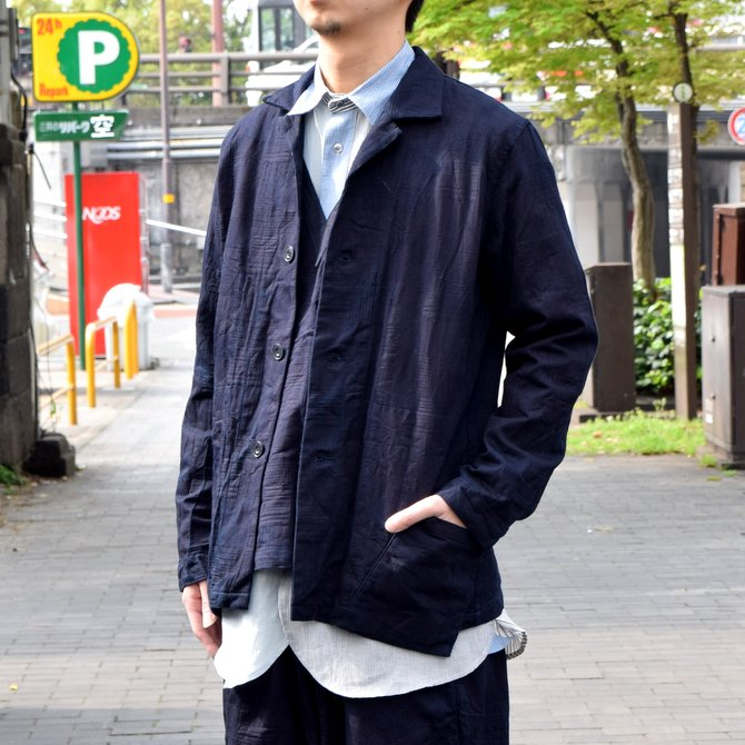 FRANK LEDER(フランク リーダー) / INDIGOINDIGO DYED WASHED COTTON JACKET-INDIGO-