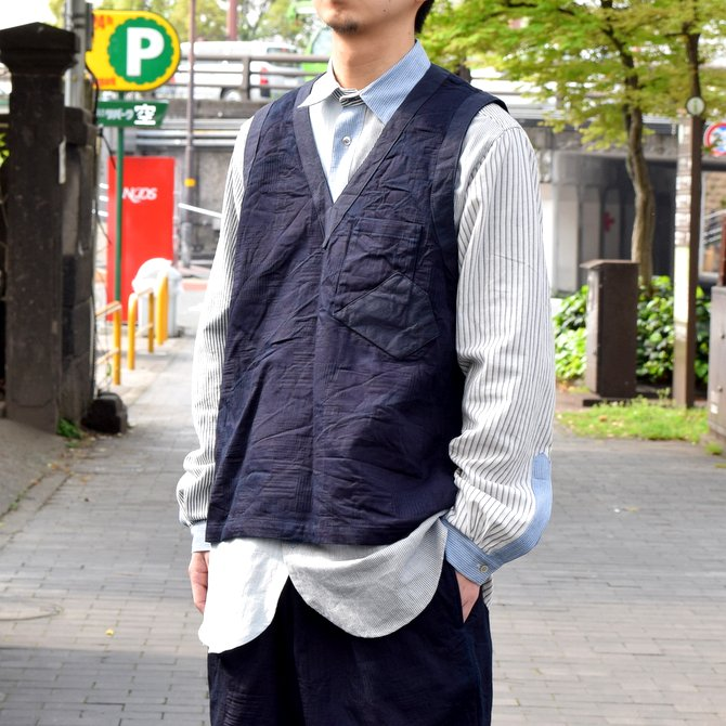 FRANK LEDER(フランク リーダー) / INDIGOINDIGO DYED WASHED VESTOVA-INDIGO-