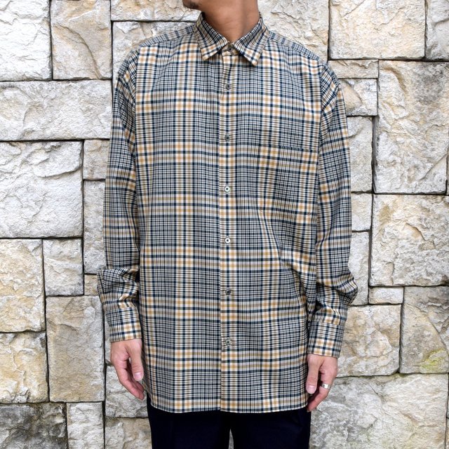 Serge SALE】MARKAWARE(マーカウェア)/Organic -BEIGE- Shirts 【WINTER Check Wool Comfort Fit
