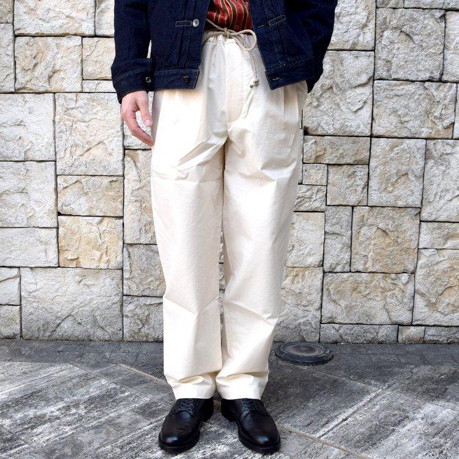 【20 SS】FRANK LEDER(フランク リーダー) /VINTAGE BEDSHEET DRAW STRING TROUSERS -NATURAL-