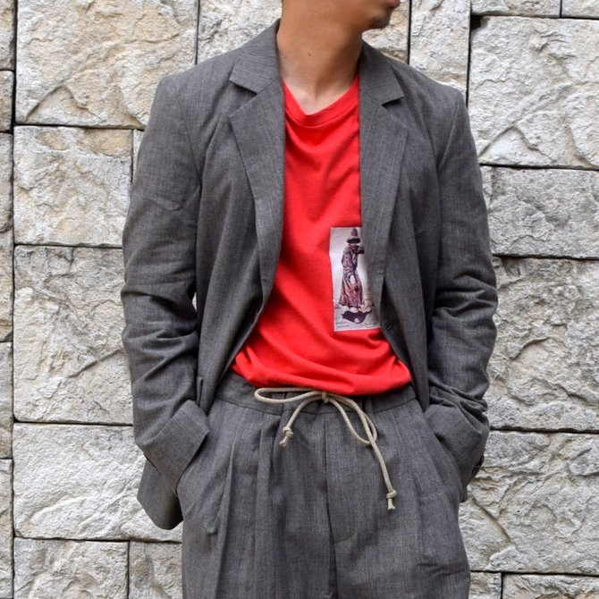 【20 SS】FRANK LEDER(フランクリーダー)/LIGHT GREY COTTON 2B JACKET -GREY-
