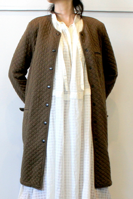 ARMEN(アーメン)/ COTTON QUILT NO COLLAR JAKET(2色展開)