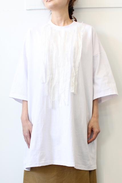 dahl'ia(ダリア)/コットンリメイクフリルTEE H/S(2色展開)