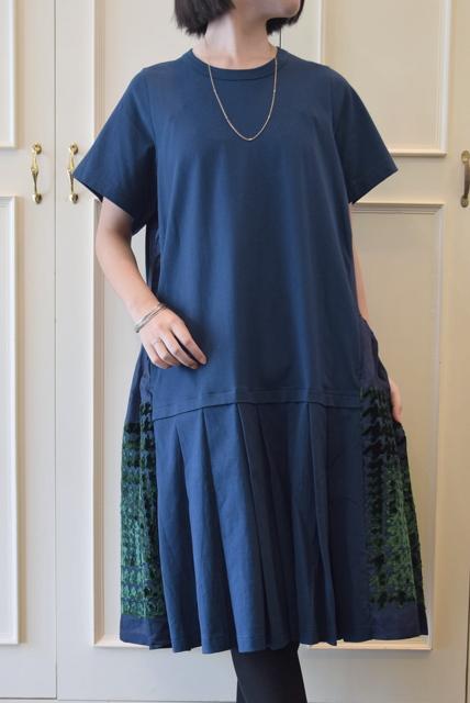 Harikae(ハリカエ)/ショートスリーブプリントドレス(2色展開)