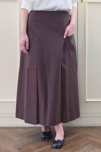 STUDIO NICHOLSON(スタジオニコルソン)/TRINITY A / WOMENS HABIT A LINE SKIRT