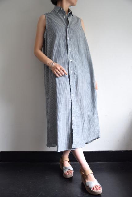 INDIVIDUALIZED SHIRTS(インディビジュアライズドシャツ)/ストライプシャツワンピース