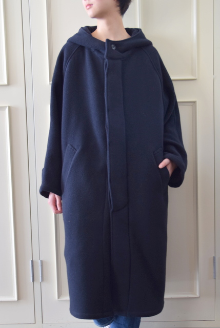 HARROW TOWN STORES(ハロータウンストアーズ)/WOOL HOODED COAT【T】