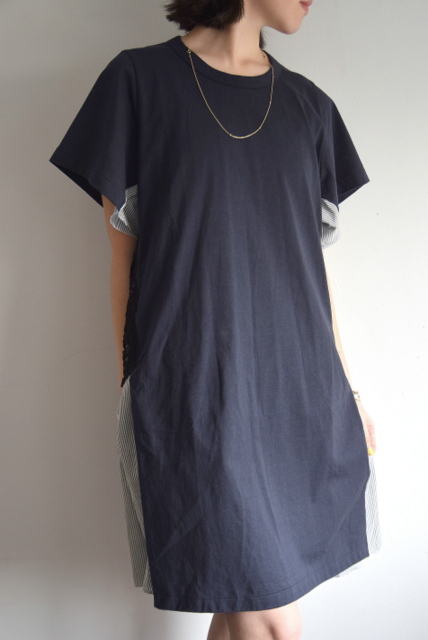 Harikae(ハリカエ)/サイド刺繍T-ドレス(2色展開)