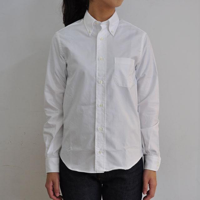INDIVIDUALIZED SHIRTS(インディビジュアライズド シャツ) / Cambridge Oxford B.D Shirt ボタンダウンシャツ(WHITE/BLUE)