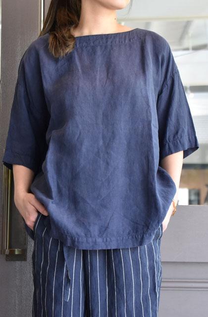 ARMEN(アーメン) / BOAT NECK S/SL SHIRT ボートネックショートスリーブシャツ(2色展開)