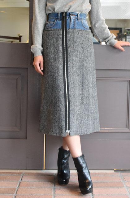 Maison Margiela(メゾン マルジェラ) / デニムツイードスカート