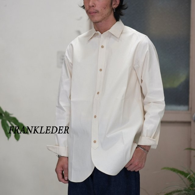 FRANK LEDER(フランクリーダー)/ VINTAGE BED LINEN COTTON SHIRT OLD STYLE -(80)NATURAL WHITE-