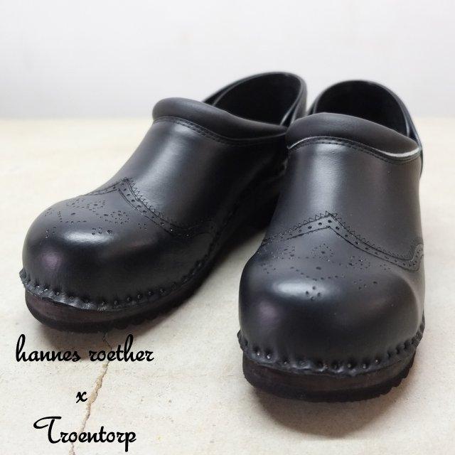 hannes roether(アーネスロエター) × Troentorp(トロエントープ) Swedish Clog Wing Tip Steel Toe Cap -BLACK-