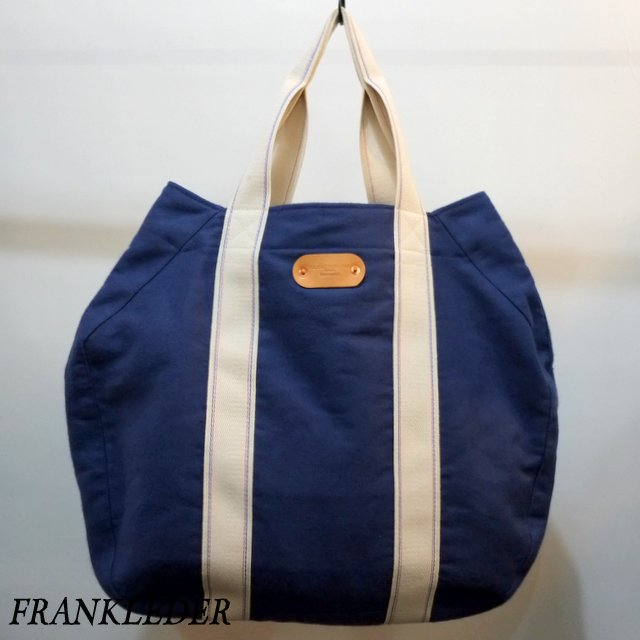 FRANK LEDER(フランクリーダー)/ Deutschleder Tote Bag - NAVY - #0820137