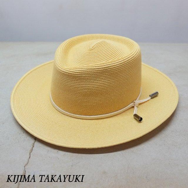 KIJIMA TAKAYUKI(キジマタカユキ) / ワックスペーパーブレードハット -BEIGE- #171102