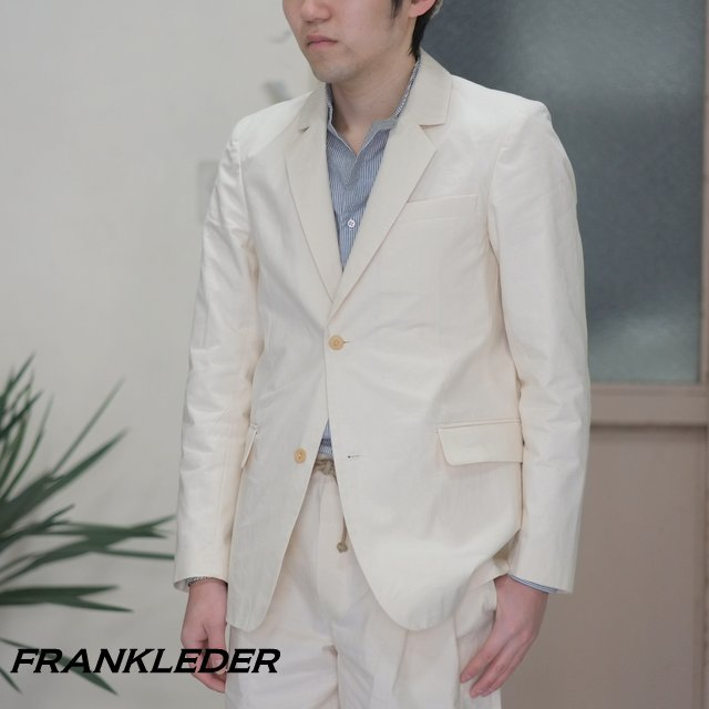 FRANK LEDER(フランク リーダー) / VINTAGE BED LINEN COTTON 2B Jacket -(80)NATURAL WHITE- #0912024
