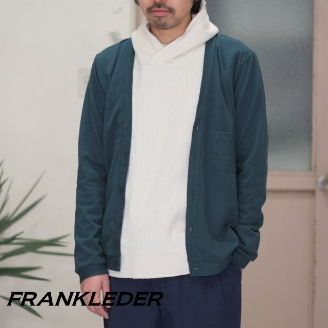 FRANK LEDER(フランク リーダー) /PIQUET COTTON CARDIGAN -(48) GREEN- #0917087