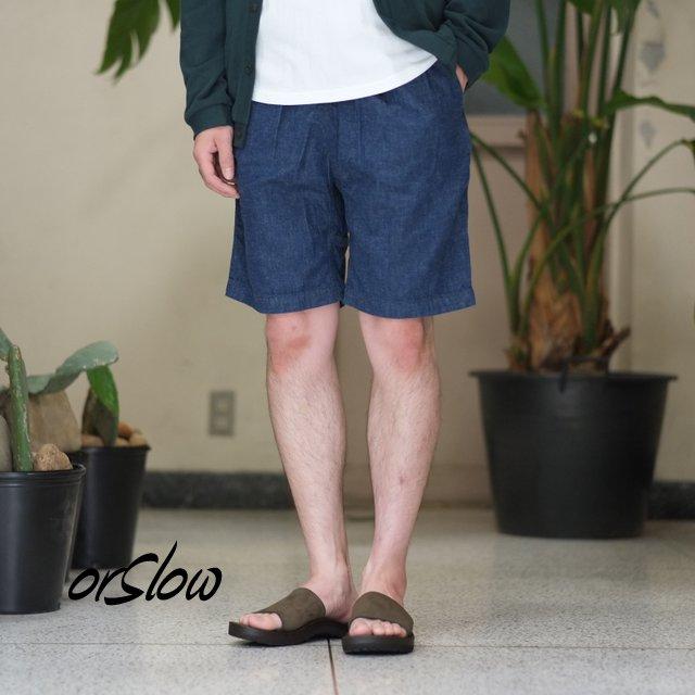orSlow(オアスロウ)/UNISEX CLIBMING DENIM SHORTS -(81)Denim one wash -