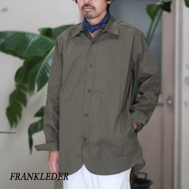 FRANK LEDER(フランク リーダー) / WASHED GERMAN VENTILE COTTON SHIRTJACKET -OLIVE-