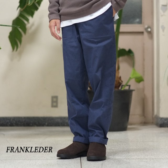 FRANK LEDER(フランク リーダー) / WASHED GERMAN VENTILE COTTON TROUSER -(39)NAVY-