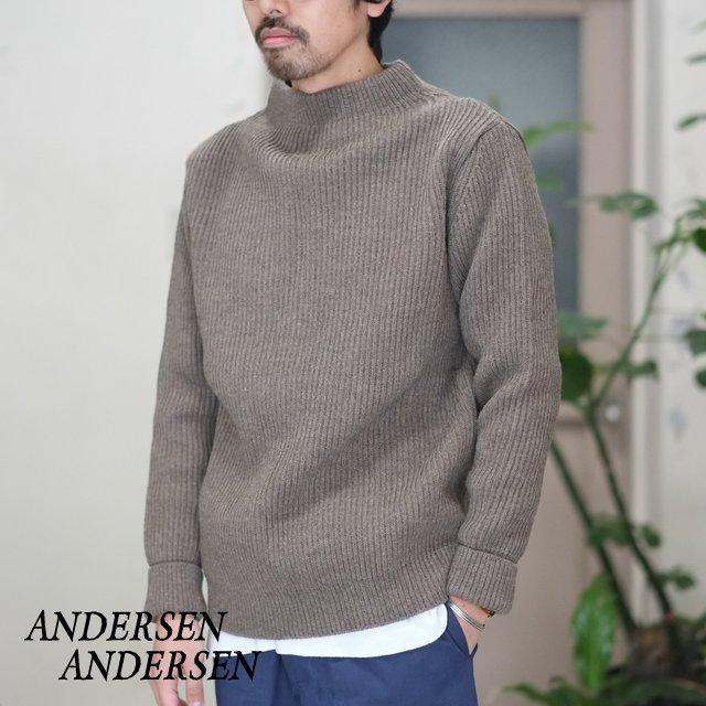 ANDERSEN-ANDERSEN(アンデルセン アンデルセン)/ SAILOR SWEATER CREW NECK(5Gauge) -NATURAL TAUPE-