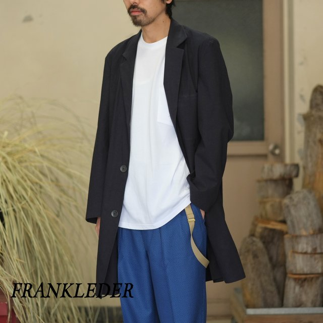 FRANK LEDER(フランク リーダー) / BRUSHED COTTON COAT -NAVY- #0211003