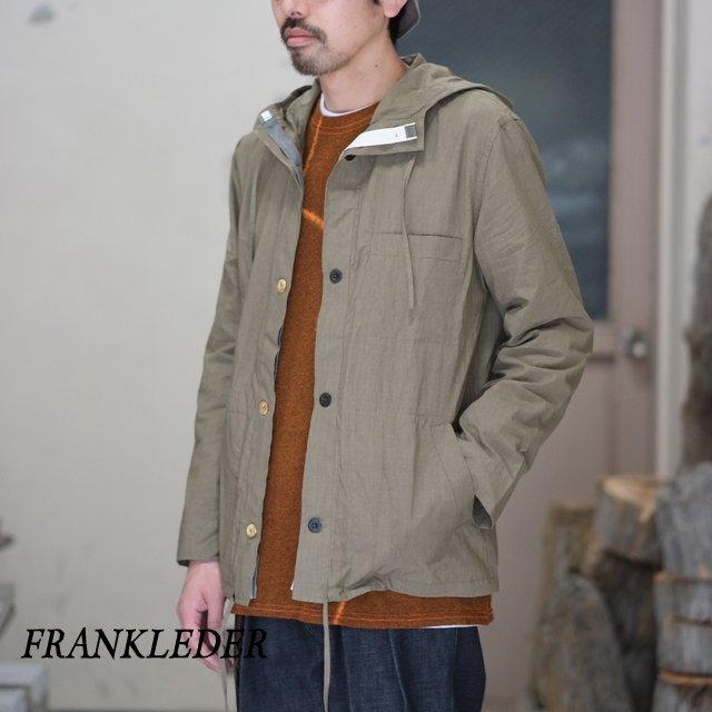 FRANK LEDER(フランク リーダー) / TRIPLE WASHED THIN COTTON HOOD JACKET -BEIGE- #0212013