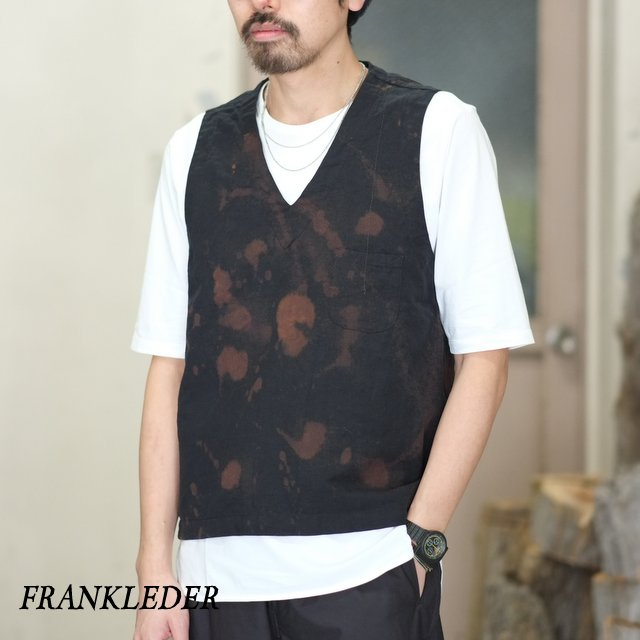 FRANK LEDER(フランク リーダー) / BLEACH FUNDAMENT COTTON / LINEN VESTOVA -BLACK- #0217093