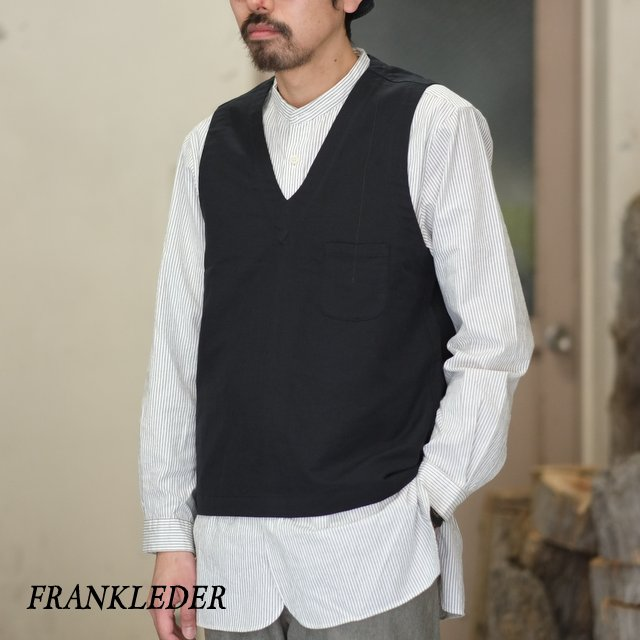 FRANK LEDER(フランク リーダー) / FUNDAMENT COTTON / LINEN VESTOVA -BLACK- #0217077