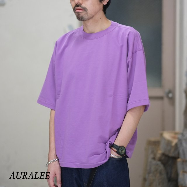 AURALEE(オーラリー)/ SUPER HIGH GAUGE SWEAT BIG TEE -PURPLE- #A8ST02NU