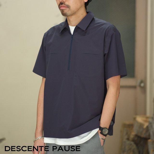 DESCENTE PAUSE(デサント ポーズ)/ HALF ZIP P/O SHIRT -NAVY- DLMLJC20