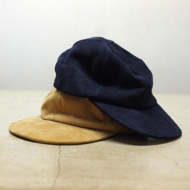 WESTOVERALLS( ウエストオーバーオールズ ) / WEST'S SUEDE CAP - 2色展開(Navy , Camel ) - #17AWCP05S