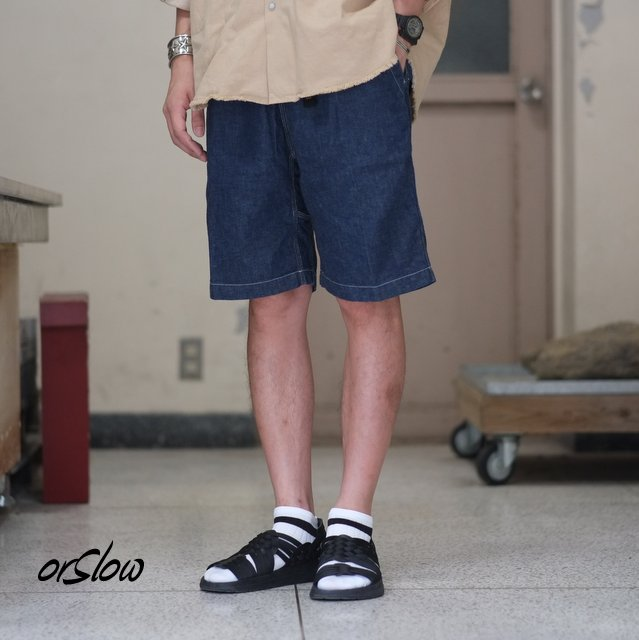 orSlow(オアスロウ) / UNISEX CLIBMING DENIM SHORTS -(81)Denim one wash - #03-7024-81