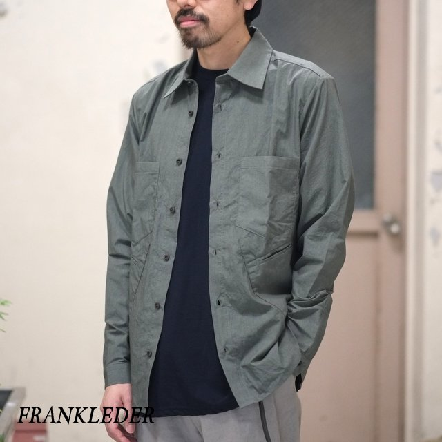 FRANK LEDER(フランク リーダー) / TRIPLE WASHED THIN COTTON SHIRT -KHAKI- #0216015