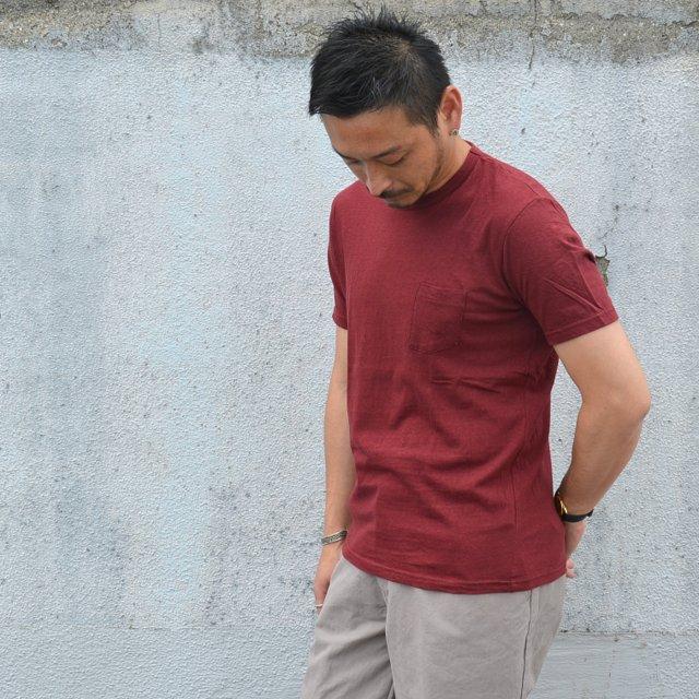 FLISTFIA フリストフィア 14 SS Pocket 全商品オープニング価格 -Old T-Shirts 人気 Burgundy-