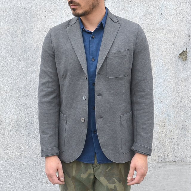 Harris Wharf London(ハリスワーフロンドン)/ Man Jacket Piquet -(140)middle grey-