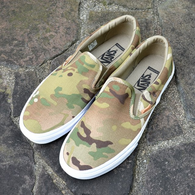 VANS (빵)/Classic Slip-On (Coriander)-Multi camo-